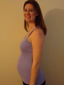 17 weken zwanger buik