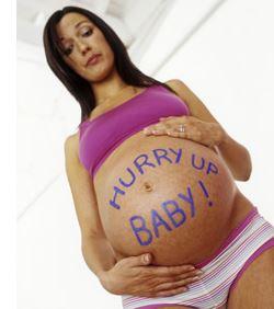 40 weken zwanger buik