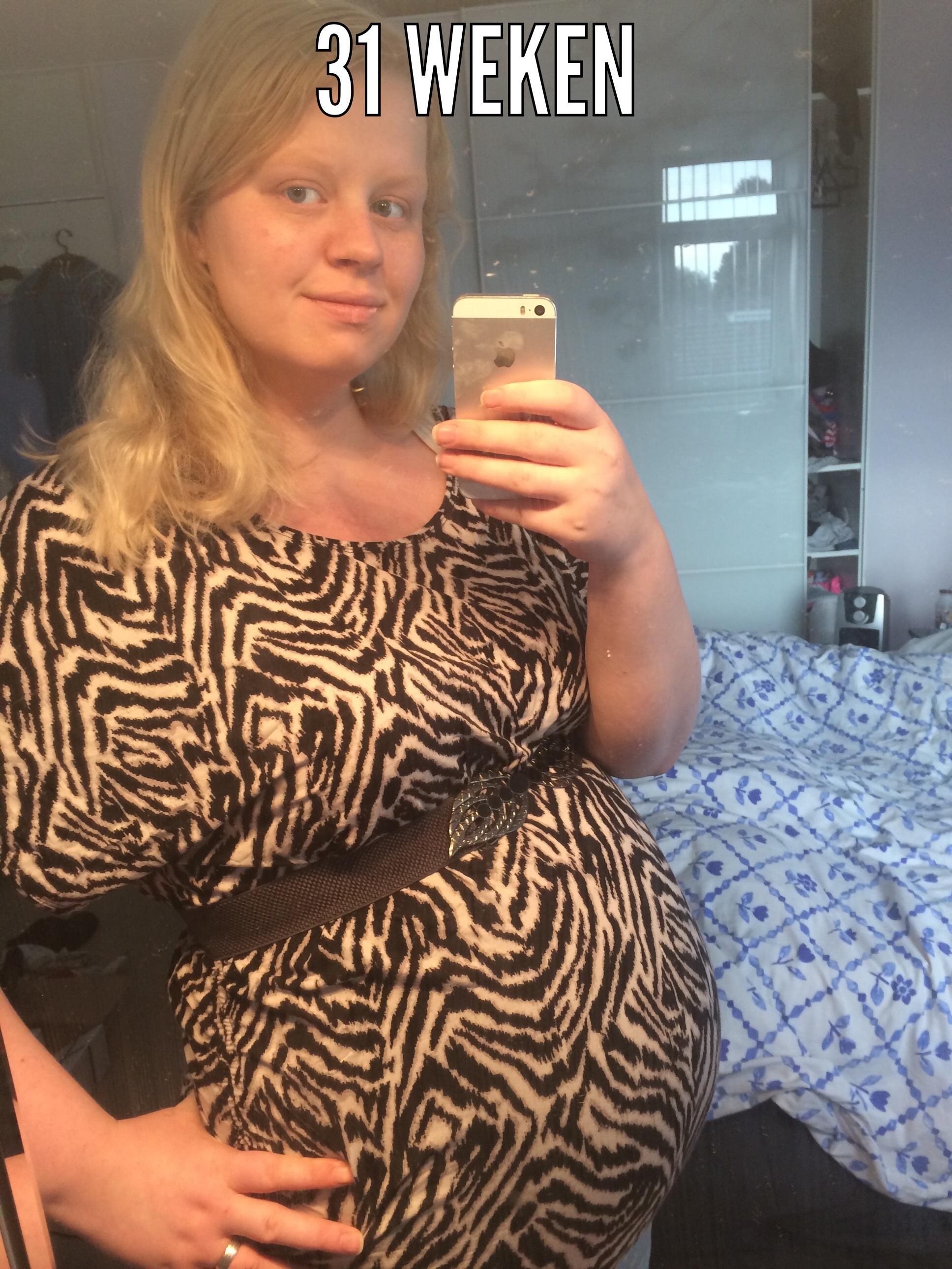 31 weken zwanger van ons tweede kindje.