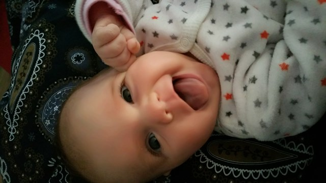 Baby van:  Giovanni & Viola - Geboren op: 03 december 2014 - Onze Italiaanse/Nederlandse dame is een geschenk en super blij!