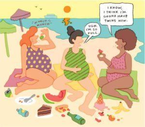 eetbuien tijdens de zwangerschap